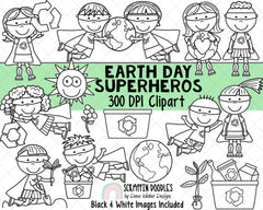 Earth Day Clipart - Earth Day SuperHero - Instant Download - Environmental Kids - Reduce Reuse Recycle Graphics - Eco Friendly ClipArt