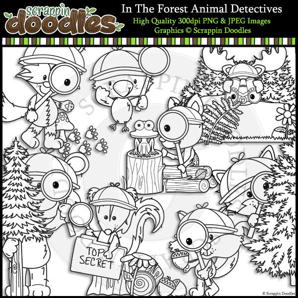 In The Forest Animals Detectives