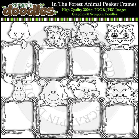 In The Forest Log Animal Peeker Frames