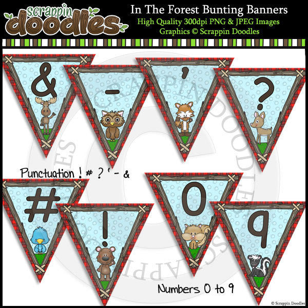 In The Forest Editable Bunting Banners