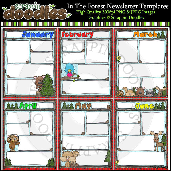 In The Forest 8 1/2 x 11 Newsletter Templates