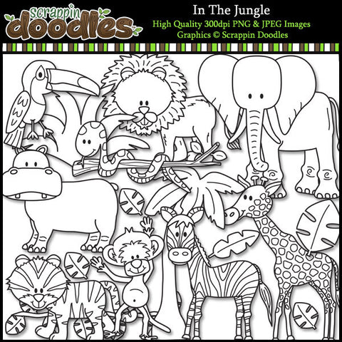 In The Jungle Clip Art