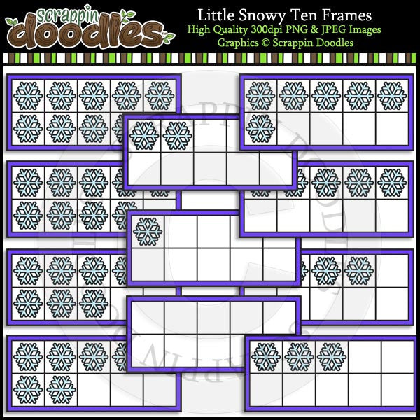 Little Snowy Ten Frames