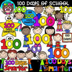 100 Days of School Clipart