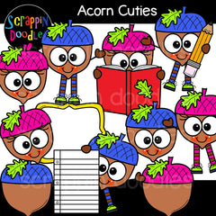 Acorn Cuties clip art fall autumn acorns