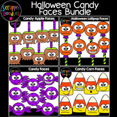 Halloween Candy Faces Clip Art Bundle