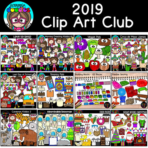2019 Clip Art Club {Approx $60 Value}