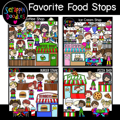 Favorite Food Stops Clip Art Bundle