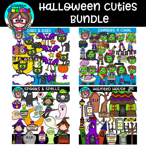 Halloween Cuties Clipart Bundle
