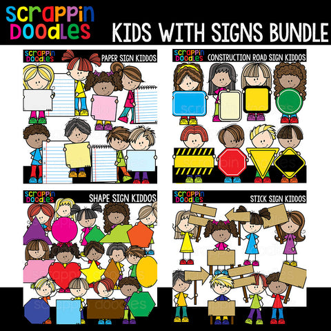 Sign Kiddos Clip Art Bundle