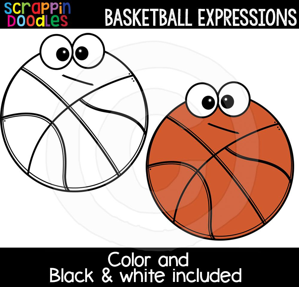 Basketball Facial Expressions Clip Art