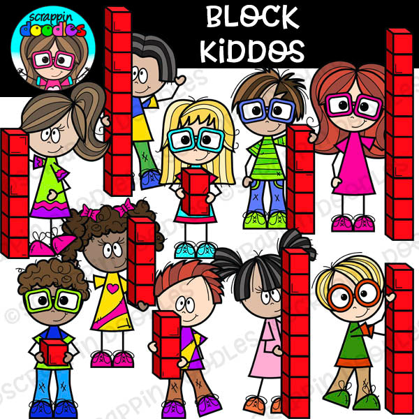 Block Kiddos - Math Blocks Clip Art