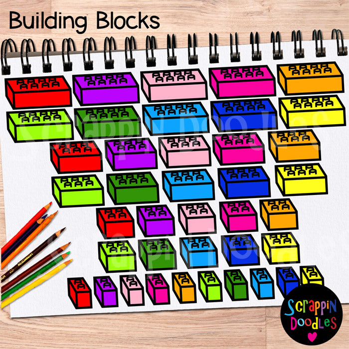 Building Blocks Clip Art Lego bricks