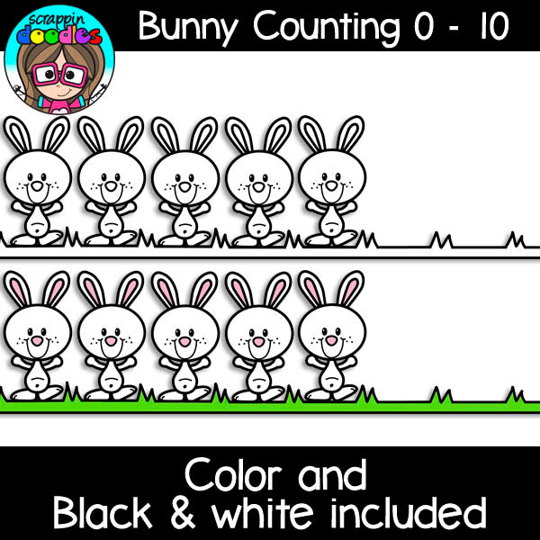Bunny Counting - Math Clip Art