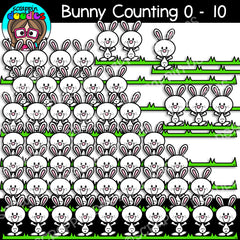 Easter Counting Clip Art Bundle