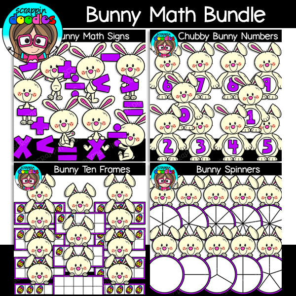 Bunny Math Clip Art Bundle