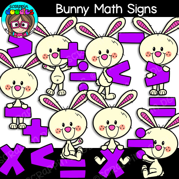 Bunny Math Clip Art Bundle Rabbit
