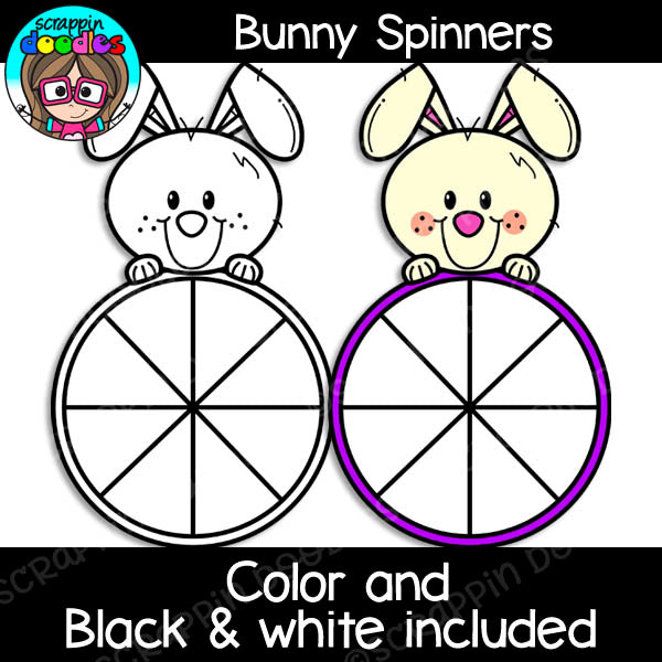 Bunny Math Clip Art Bundle Rabbit Spinners