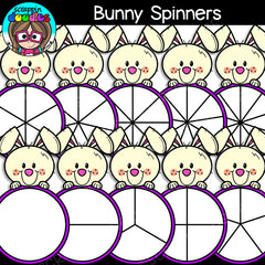 Bunny Spinners Clipart - Math Game Clip Art