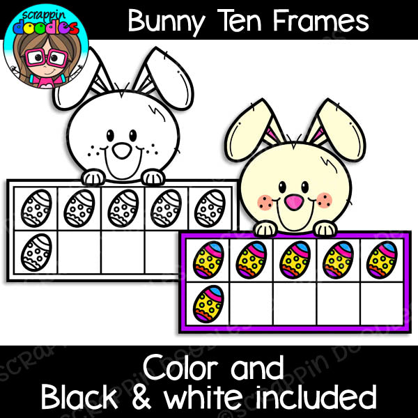 Bunny Math Clip Art Bundle Rabbit Ten Frames