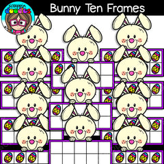 Bunny Ten Frames Clip Art Math Counting