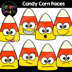 Halloween Candy Corn Faces Clip Art Expressions Emotions