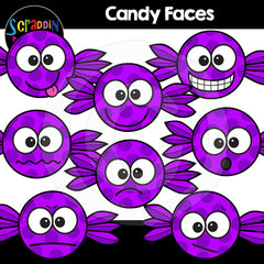 Halloween Candy Faces Clip Art Expressions