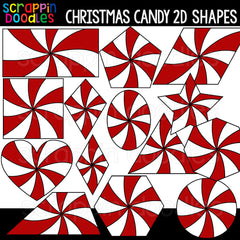Christmas 2D Shapes Clipart BUNDLE