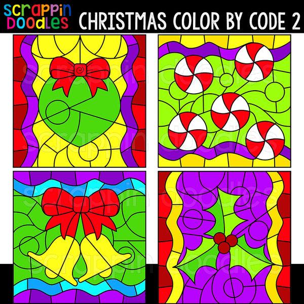 Christmas Color By Code Templates 2