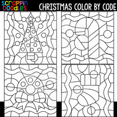 Christmas Color By Code Templates