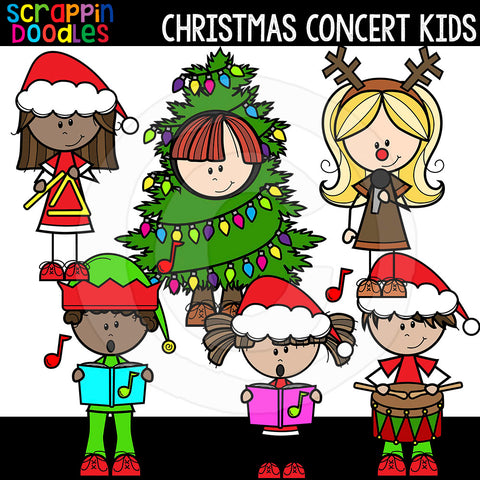 Christmas Concert Kids Clip Art