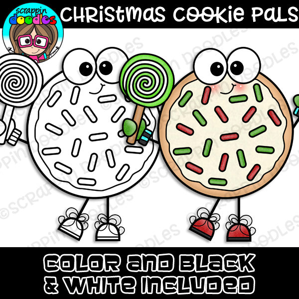 Christmas Cookie Pals Clipart