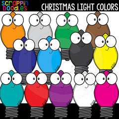 Christmas Light Colors Clip Art Lights Cute