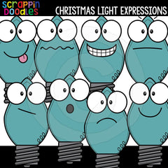 Christmas Light Facial Expressions Clip Art Emotions