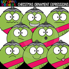 Christmas Ornament Facial Expressions Clip Art Emptions