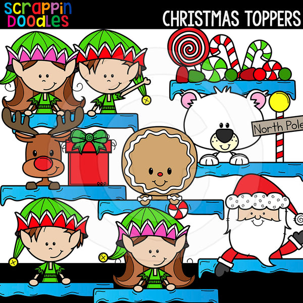 Christmas Page Toppers Commercial Use Clip Art