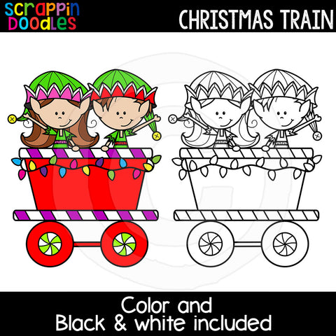 Christmas Train Clip Art