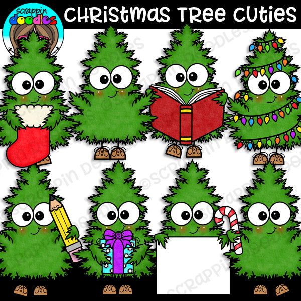 Christmas Tree Cuties Clipart