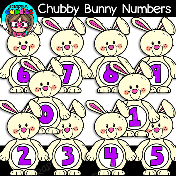 Bunny Math Clip Art Bundle Rabbit Numbers