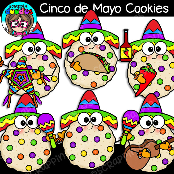 Cinco de Mayo Cookies Clip Art