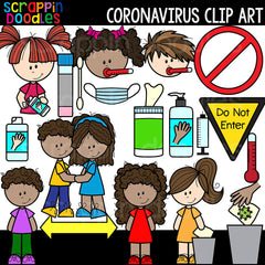 Coronavirus Clipart Covid 19 Commercial Use Corona Virus