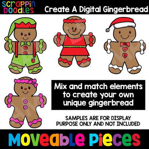 Create a Digital Gingerbread Clip Art