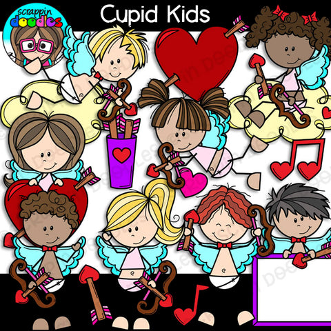Cupid Kids Clip Art