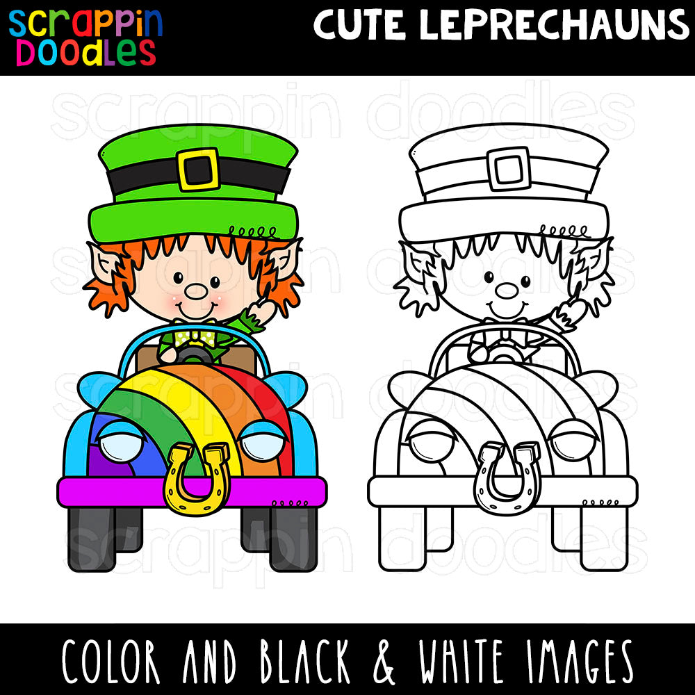 Cute Leprechauns Clip Art