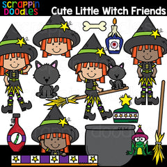Cute Little Witch Clipart
