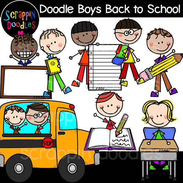 Doodle Boys - Back to School Clip Art