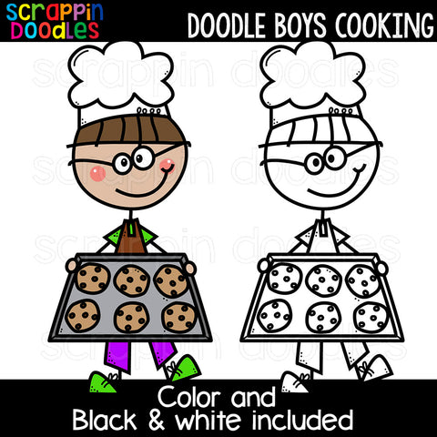 Doodle Boys Cooking Clip Art Chef Baking
