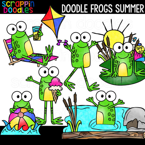 Doodle Frogs Clip Art Bundle 2 - Seasons & Holidays