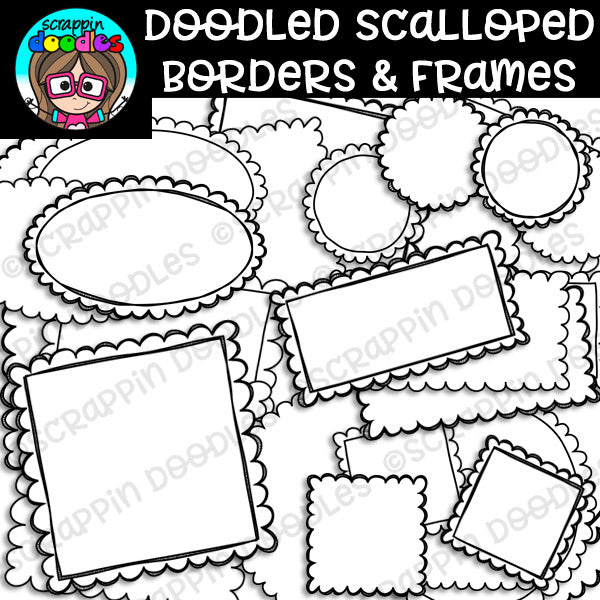 Doodled Scalloped Borders & Frames