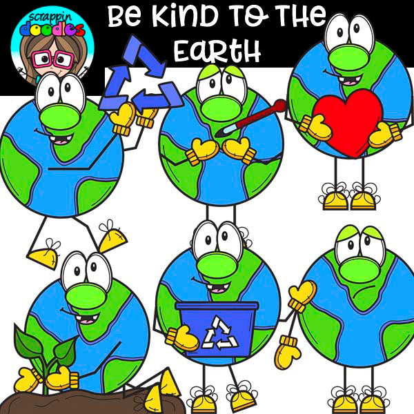 Be Kind To The Earth - Earth Day Clip Art